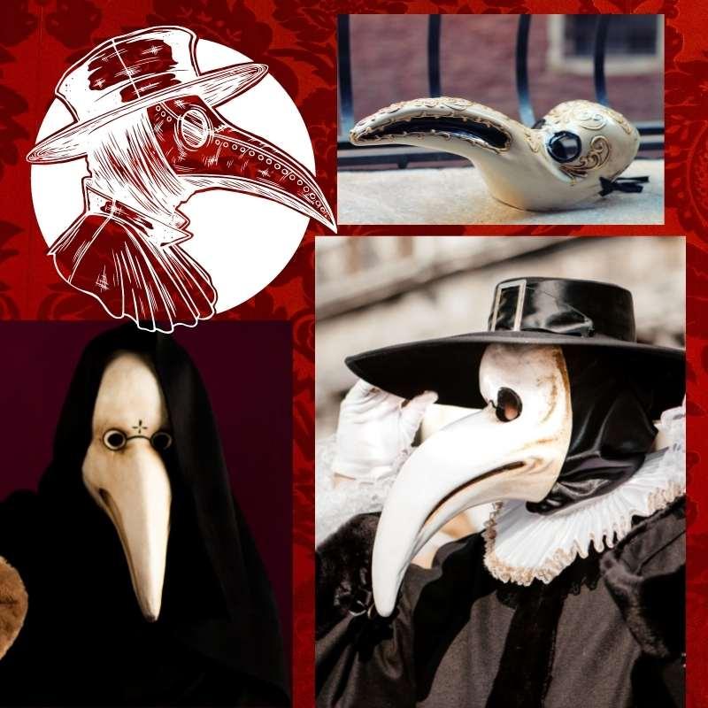 máscara veneciana doctor de la peste